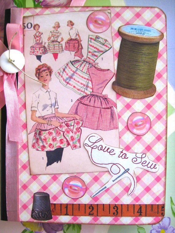 Sewing Pattern Journal Notebook by sassysadielee on Etsy
