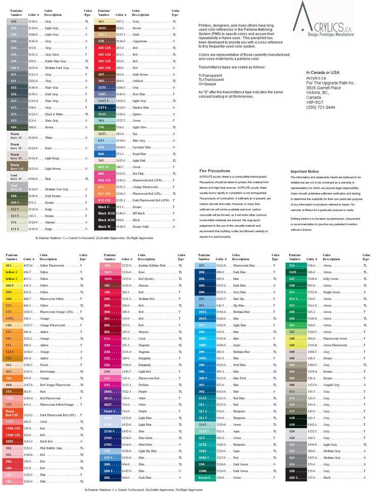 Best  Pantone Color Chart Ideas On   Pantone Chart