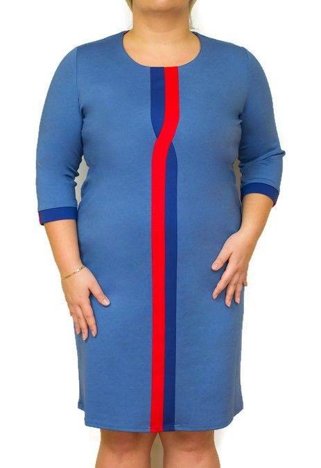 d22dc69b19 Elegancka sukienka XXL OTTA 46-54 PINK wyszczuplająca Duże rozmiary w 2019