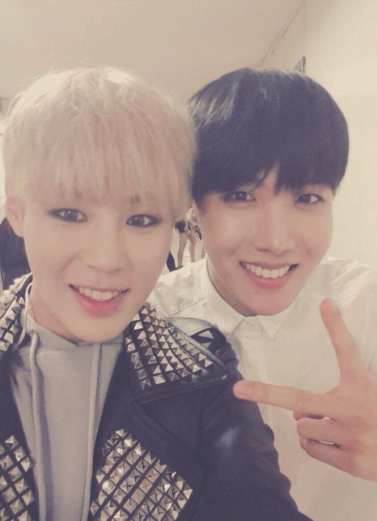 Sungwoon + J-Hope // HOTSHOT // BTS can we talk about how sungwoon is like a brother of minhyuk from monsta x