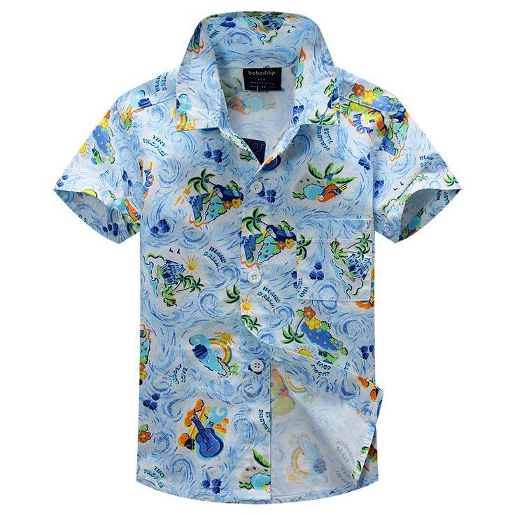 Новое прибытие цветочный рубашка гавайская рубашка гавайская рубашка для детей 1614
