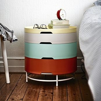 """5,060 Likes, 144 Comments - IKEA USA (@ikeausa) on Instagram: """"The IKEA PS 2014 storage table - a little nightstand with endless storage possibilities."""""""