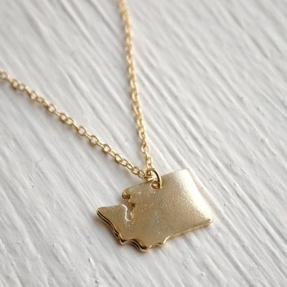 The 13 best images about gemini jewelry on pinterest washington washington state necklace small washington state by nativemoss aloadofball Gallery