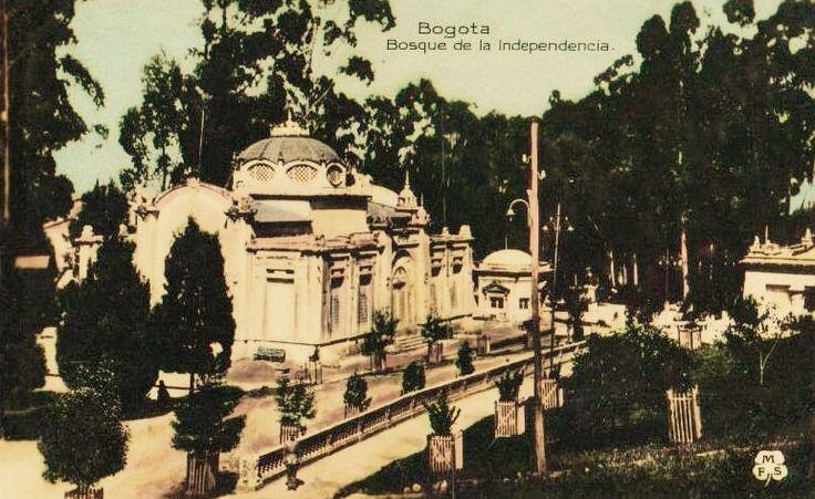 Bosque de la Independencia en Bogotá hacia 1930