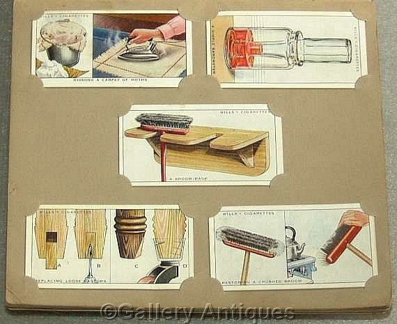 Vintage Household Hints DIY Full Set of 50 Cigarette Cards in Album by W. D. & H. O. Wills Issued in 1936 #followvintage