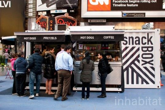 SnackBox Reinvents the Street Food Stand With a Recycled Shipping Container in Times Square