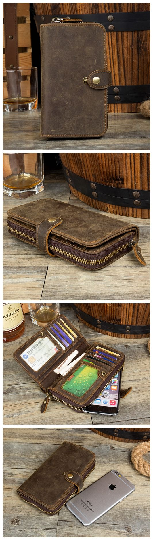 LEATHER LONG WALLET, MEN WALLET, MONEY HOLDER MS136