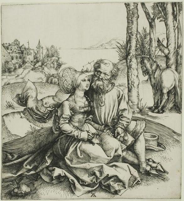 The Ill-Assorted Couple by Albrecht Dürer,c. 1496