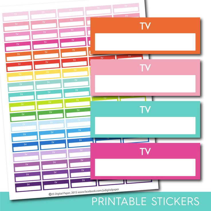 TV stickers, Tv planner stickers, Printable Tv stickers, Tv box stickers, Tv Header stickers, Life planner stickers, STI-208