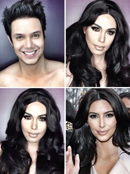The Man Who Is Becoming a Pro at Celebrity Makeup Transformations - Filipino TV host Paolo Ballesteros has been Instagramming photos of himself made up as different famous female stars and his makeovers are pretty good. #KimKardashian #makeup