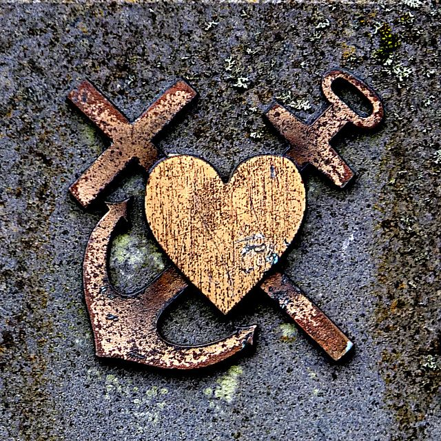 heart, anchor and cross by Bim Bom, via Flickr.   tattoo!!!!!!