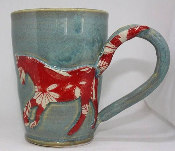 Whimsical Tattooed Horse Mug Free Shipping  H4