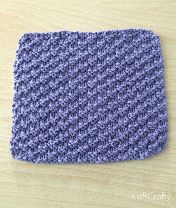 how to finish knitting a dishcloth