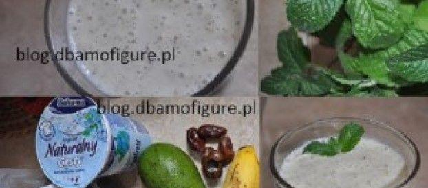 Koktajl bananowo-daktylowy z nasionami Chia