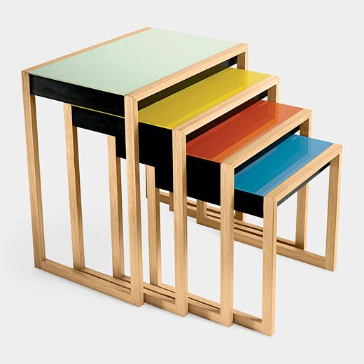 Josef Albers's Nesting Tables: Remodelista