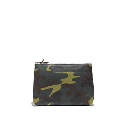 Zip Pouch coated canvas $26.50