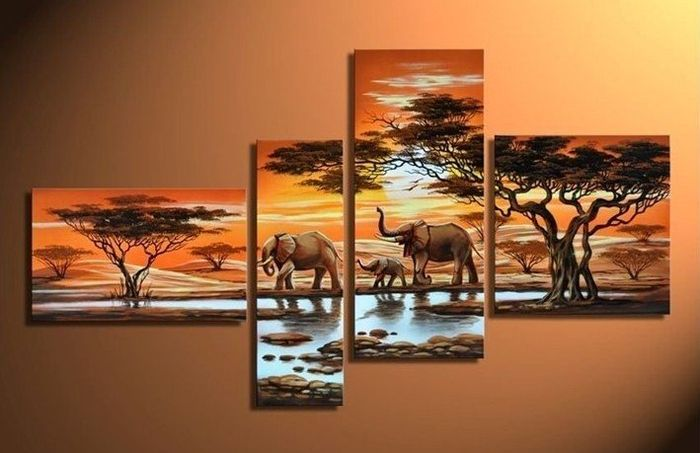 "Картина с раздела ""Африка"". Масло, холст, ручная работа. A painting of ""Africa."" Oil on canvas, handmade."