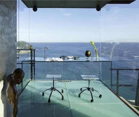 Incredible Glass Home Office | via Sotheby's International Realty | House & HomeDreams, Offices Design, Offices Spaces, The View, Sea View, House, Ocean View, Costa Brava, Home Offices