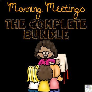 Morning Meetings are a great way to foster a sense of community in your primary classroom. This year long bundle is the most affordable and effective way to host Morning Meetings in your classroom. Just print, laminate, and in 15 minutes a day, your students will be collaborating, learning, and having fun first thing in the morning!Get your hands on an ENTIRE year of Morning Meetings for a fraction of the price!By the time this bundle is complete, you will have an entire 10 months of…