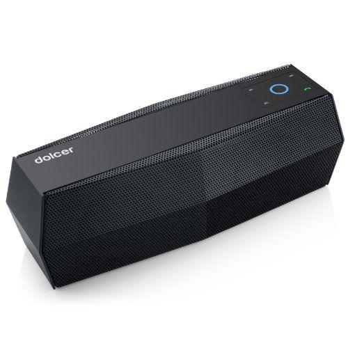 Dolcer by EasyAcc Touch Control Bluetooth Lautsprecher(Musikabspielen von Micro SD Karten und USB Sticks, FM Radio), Schwarz