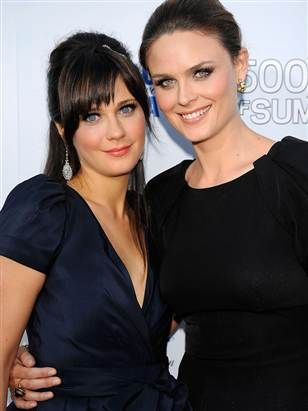 The Beautiful Deschanel sisters, Emily and Zooey.