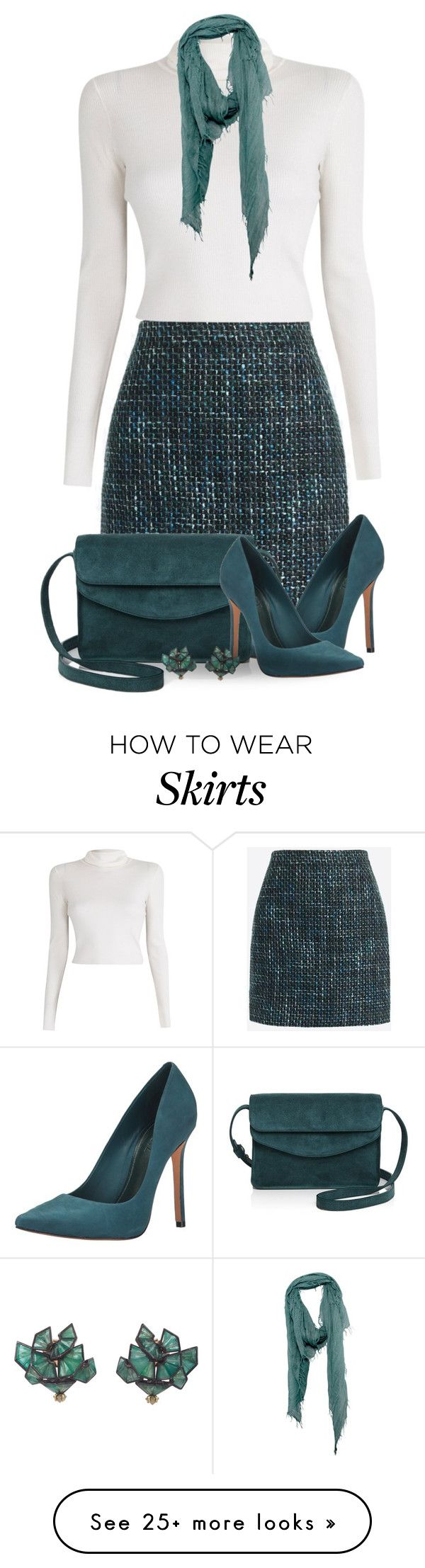 """Some Teal Love"" by jackie22 on Polyvore featuring J.Crew, Schutz, Illesteva, A.L.C., Chan Luu, Nak Armstrong, teal, twead and suedebag"