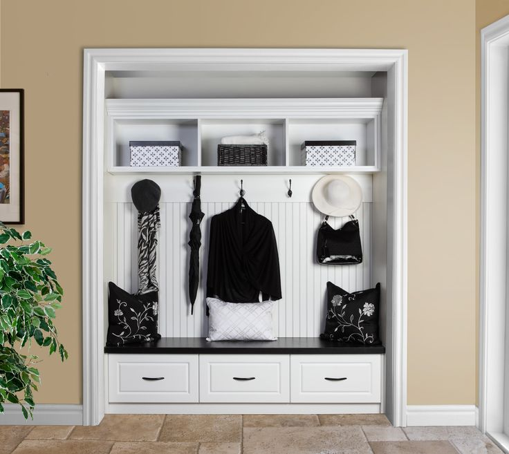 Mud Room Closet  so organized!!!  Organized Interiors