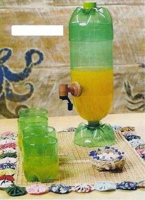 Jarro feito de garrafa pet: Bottle, Plastic Bottle, Ideas, Craft, Pet Bottle, Pets, Filter, Crafts
