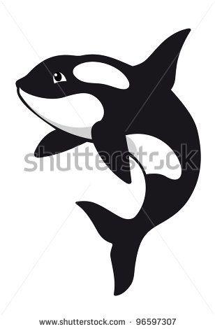 Orca Whale Cartoon stock vector : ...