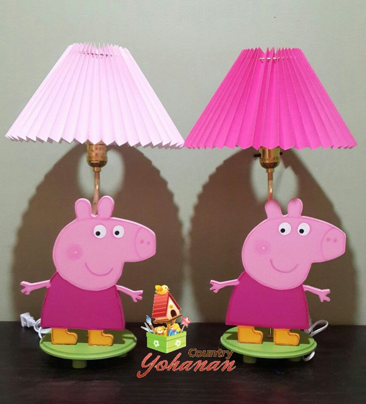 Lámpara de peppa country.