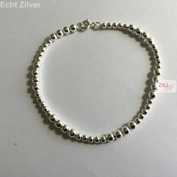 Zilveren wisselende balletjes armband - ZilverVoorJou Echt 925 zilveren sieraden
