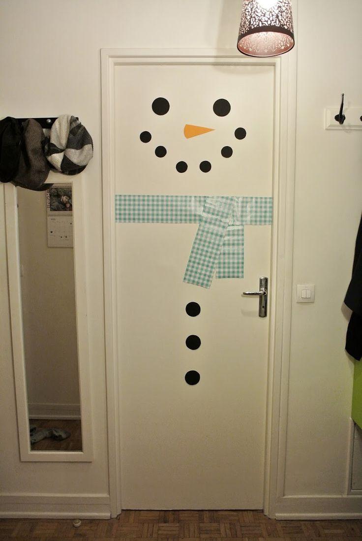 Les 25 meilleures id es concernant porte bonhomme de neige for Noel est a votre porte