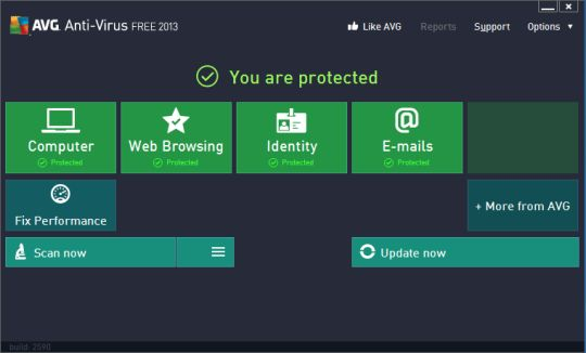 AVG AntiVirus Free 2013. Protect your computer from viruses and malicious programs.