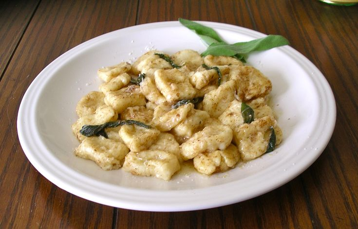 Belly-Button Ricotta Gnocchi in a Sage Burnt Butter Sauce.