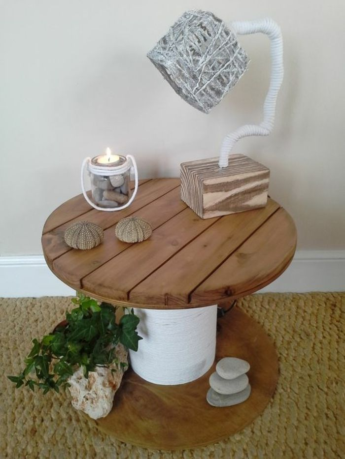 1001 id es astuces brico pour cr er une table en touret diy table basse touret bobines de
