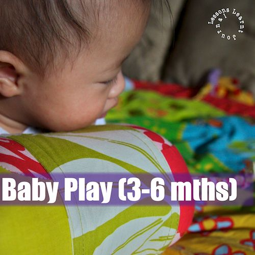 Here are a few games to play with 3-6 month-olds. What kind of games do you play with your little baby?