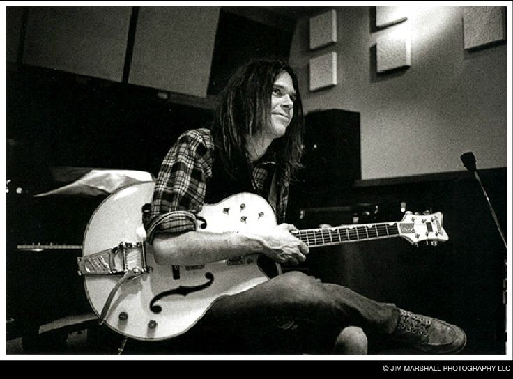 Neil Young, recording session, LA, 1969