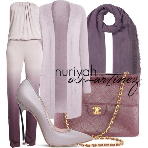 Hijab Outfit by Nuriyah O. Martinez Long sleeve top €41 - simplybe.com Young Fabulous Broke jumpsuits romper €210 - saksfifthavenue.com Casadei grey shoes €670 - casadei.com Chanel handbag €2.240 - unionandfifth.com EAST scarve €34 - johnlewis.com