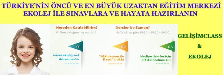 Türkiye'nin öncü ve en büyük uzaktan eğitim merkezi ekolej ile sınavlara hazırlanın!  http://www.ekolej.net/