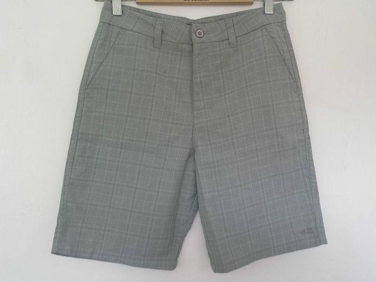 O Neill Shorts Mens Beach Plaid, 29 Waist. Colour Grey