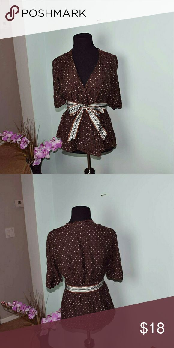 BCBGMAXAZRIA Java Colored Bow Design Blouse In excellent condition! Absolutely beautiful! BCBGMaxAzria Tops Blouses