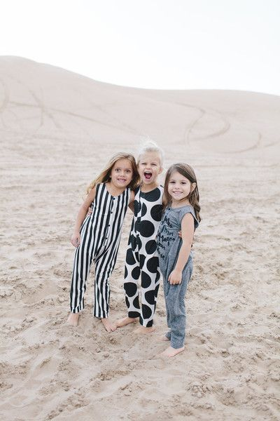 Wolf and Rita jumpsuit in black and white stripes.