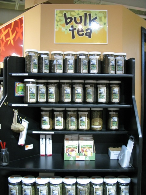 our bulk tea section (city sprout blog)