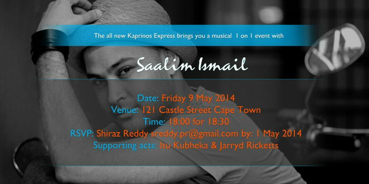 Check out the invitation to my 1 on 1 musical event designed by Ntsika Daki ☺