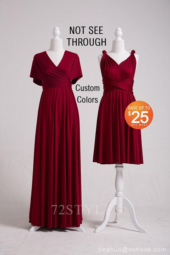 c89e2f8ce73 LONG Bridesmaid Dress Burgundy … | Infinity Dress, Bridesmaid Dress ...