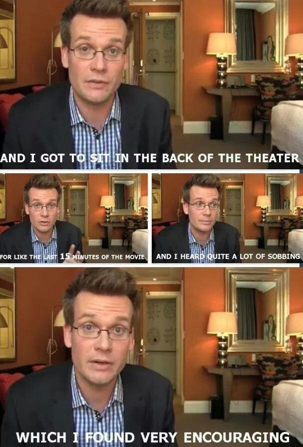 John Green playing at being Veronica Roth.... And various other evil authors.