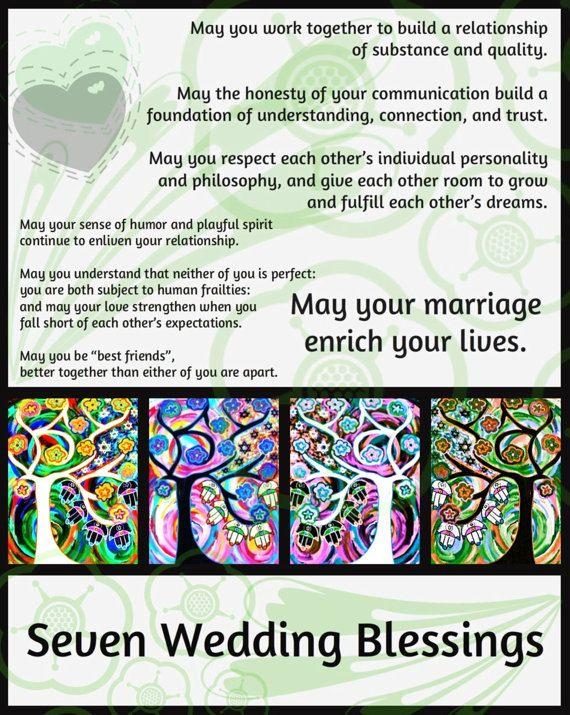 JUDAICA  Seven Wedding Blessings'  by SandraSilberzweigArt on Etsy, $18.99