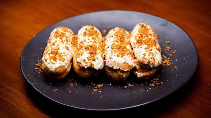 Cream Cheese and Dulce de Leche Eclairs