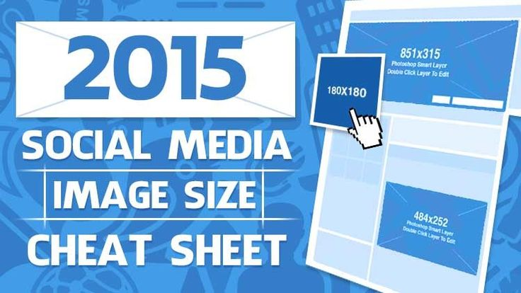 2015 Social Media Image Size Cheat Sheet
