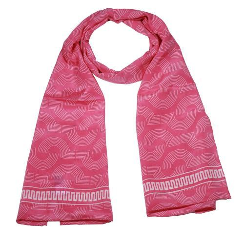 Art Deco Pink Silk Scarf from Fox & Chave. Buy from the online gift shop at English Heritage.